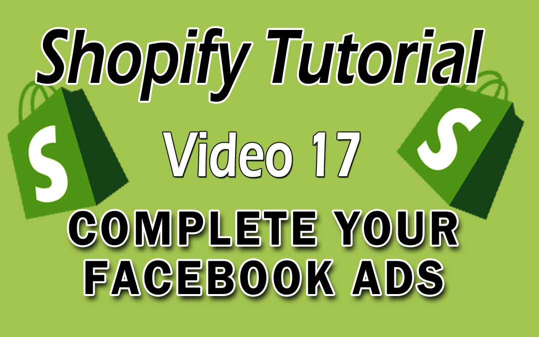 Shopify Tutorial - Complete Your Facebook ads Setup