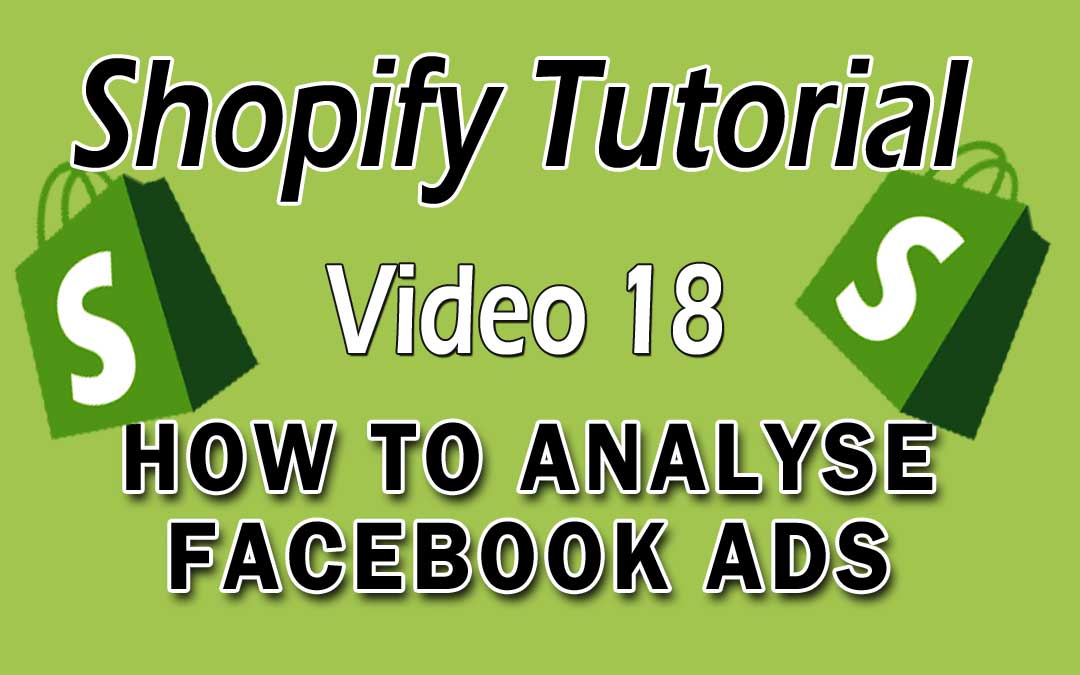 Shopify Tutorial For Beginners – How To Analyse Your Facebook Ads