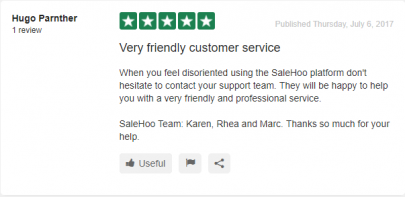 Salehoo Review Comments