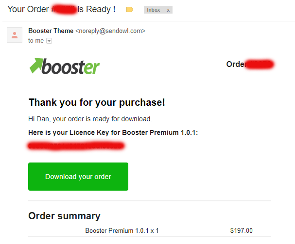 Shopify Booster Review - Booster Theme Receipt