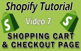 Shopify Tutorial for Beginners – Shopping Cart & Checkout Page